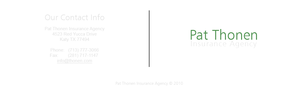 Contact Pat Thonen Insurance Agency